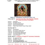 Temple 32nd Anniversary Celebration – Apr 14 to 16